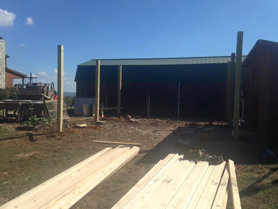 New Shed In Limestone Tennessee Schwartz And Sons Construction